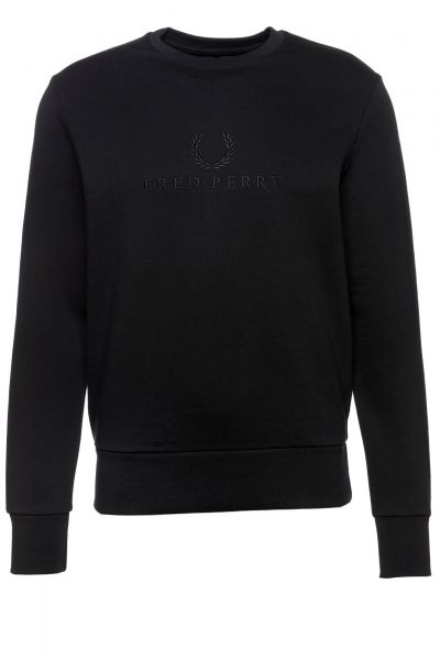 Sweatshirt Tonal Embroidered in Schwarz