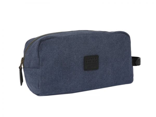 Waschtasche Canvas Wash Bag in Blau