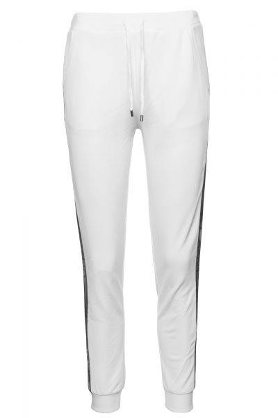 Jogginghose Jersey/Milena in Weiß