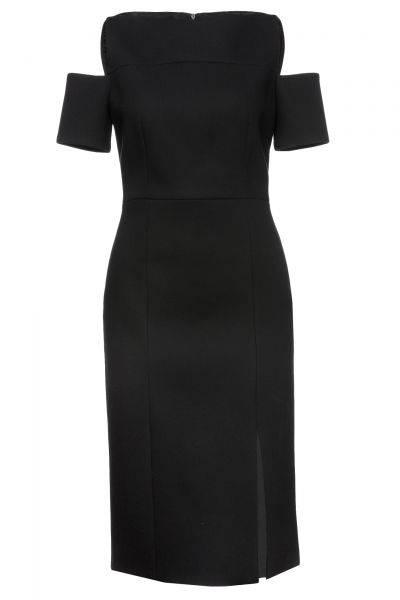 Schulterfreies Kleid Denaka in Schwarz