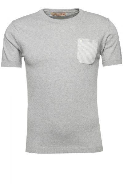 Kurzarm-Pullover in Grau