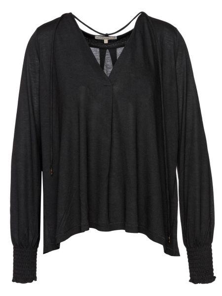 Langarmshirt in Schwarz