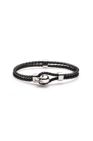 Armband E-Skullrock in Schwarz