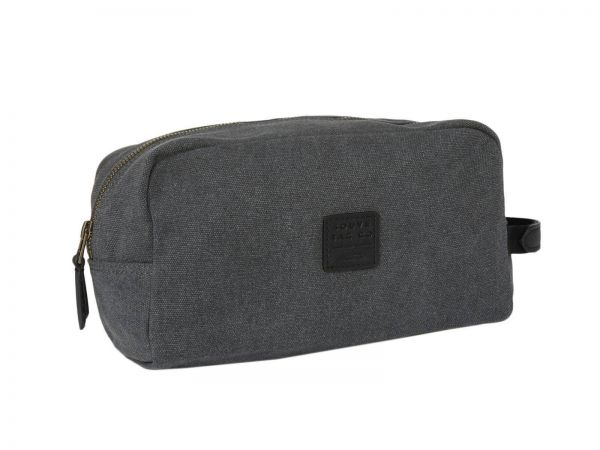 Waschtasche Canvas Wash Bag in Anthrazit