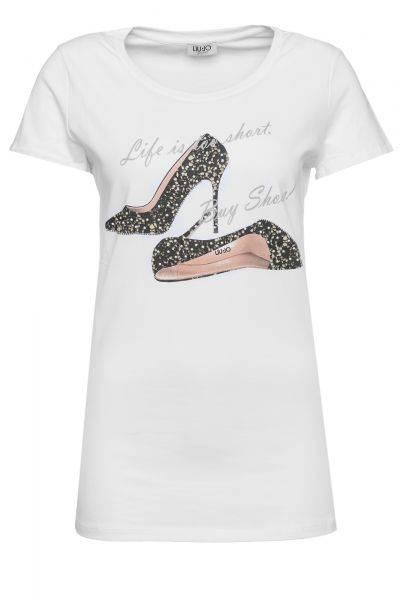 T-Shirt Moda Elisee in Weiß