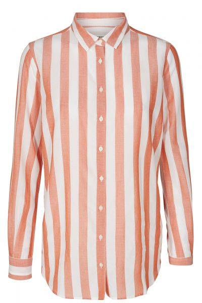 Bluse Kayla Stripe Shirt in Apricot