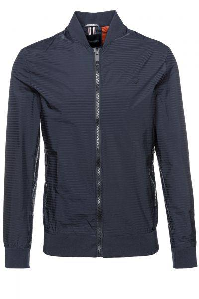 Bomberjacke Striped Coat With Zip in Blau