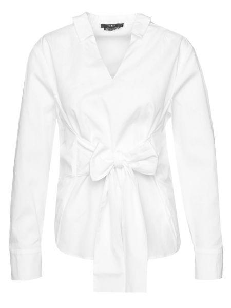 Bluse mit Schleife in Weiß