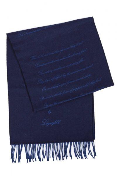 Schal in Blau