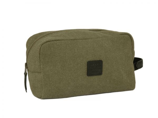 Waschtasche Canvas Wash Bag in Oliv