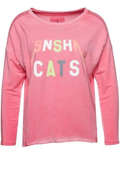 Sweatshirt Snshn Cats in Pink