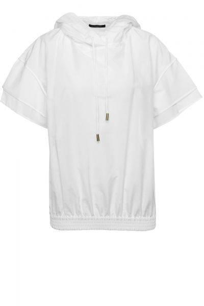 Kurzarm-Hoodie Tasyda in Weiß