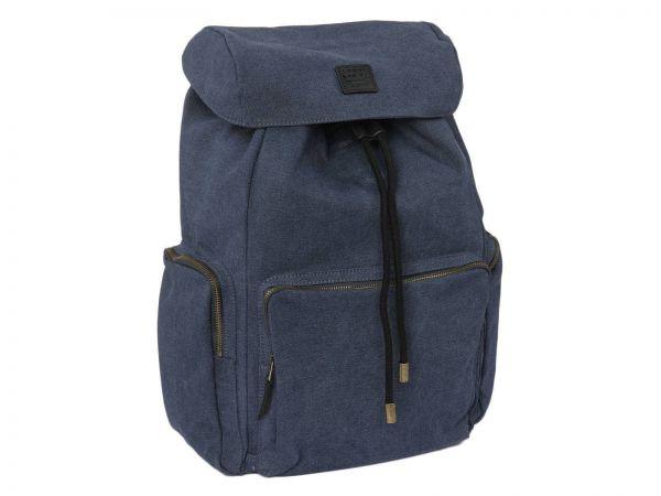 Rucksack Canvas Hiking Bag in Blau