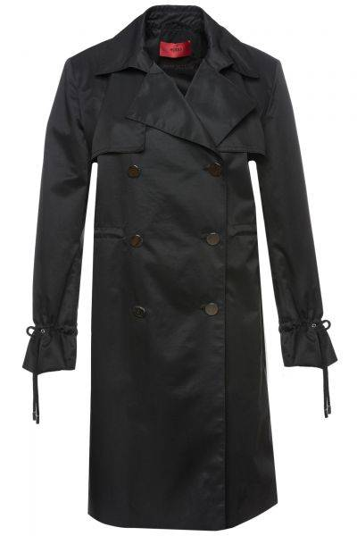 Trenchcoat Maxima in Schwarz