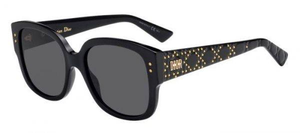 Sonnenbrille Ladydiorstuds in Schwarz