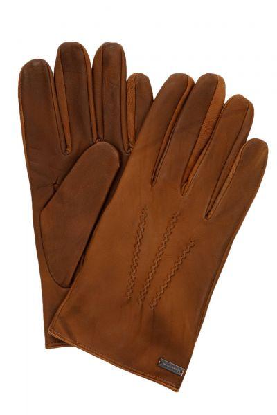 Handschuhe Gans3 aus gewachstem Leder in Braun