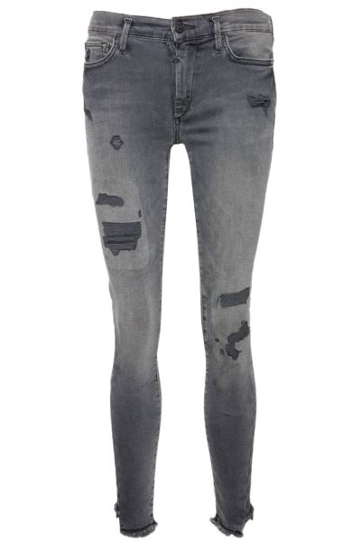 Jeans Halle Destroyed in Rosa