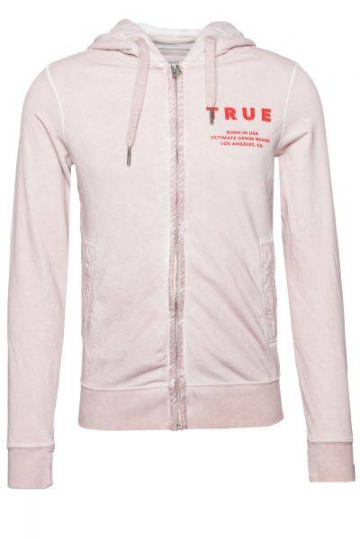 Sweatjacke Hooded JKT True in Rosa