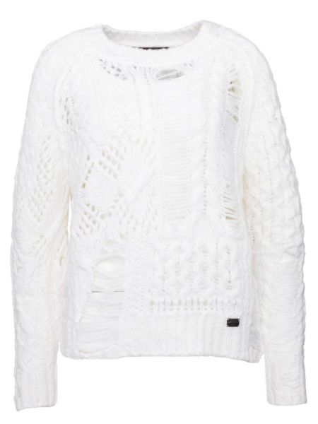 Pullover Super Destroy in Weiß