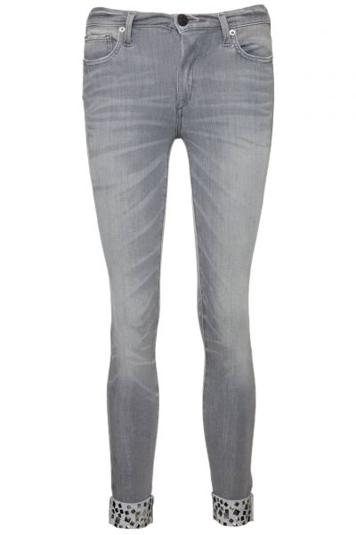 Jeans Halle Studs in Grau