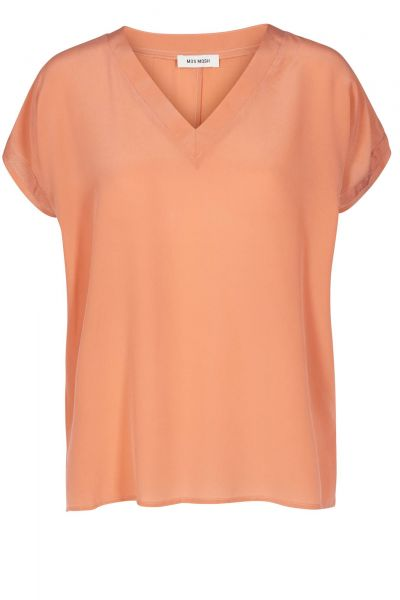 T-Shirt Belle Silk Tee in Apricot