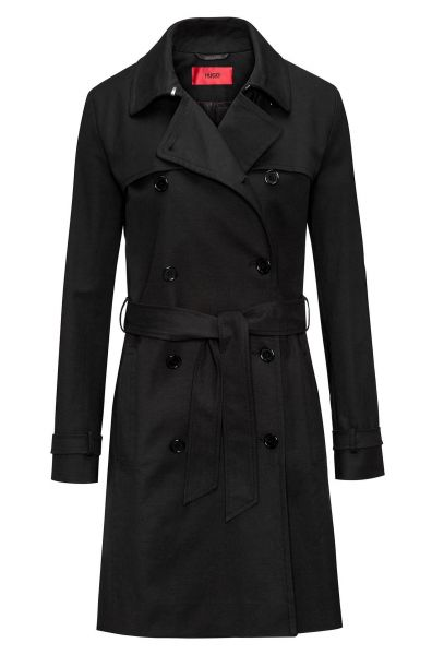 Trenchcoat Makaras-1 in Schwarz