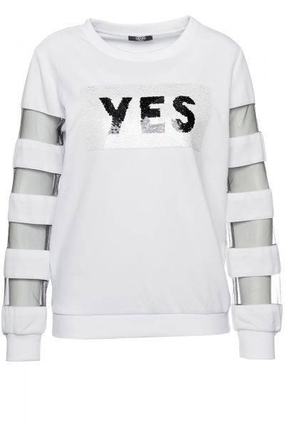 Sweatshirt Chiusa/Milena in Weiß