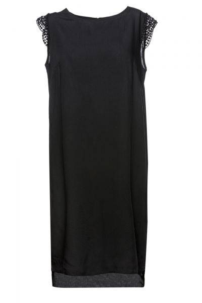 Kleid Line in Schwarz