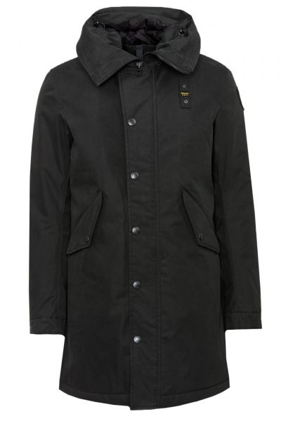 Parka Trench Lunghi imbottito in Schwarz