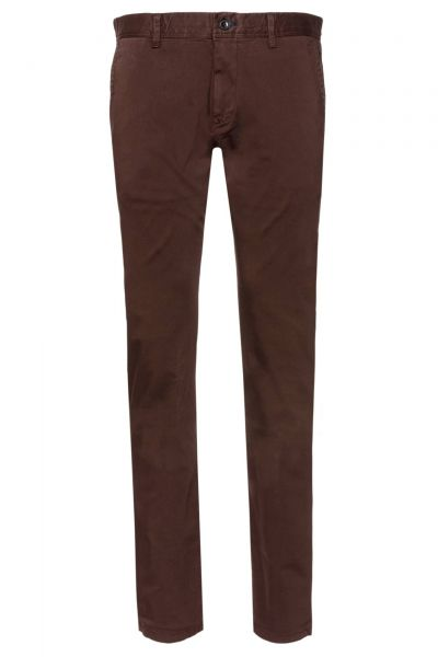 Chino-Hose Matthew-D in Bordeaux-Rot