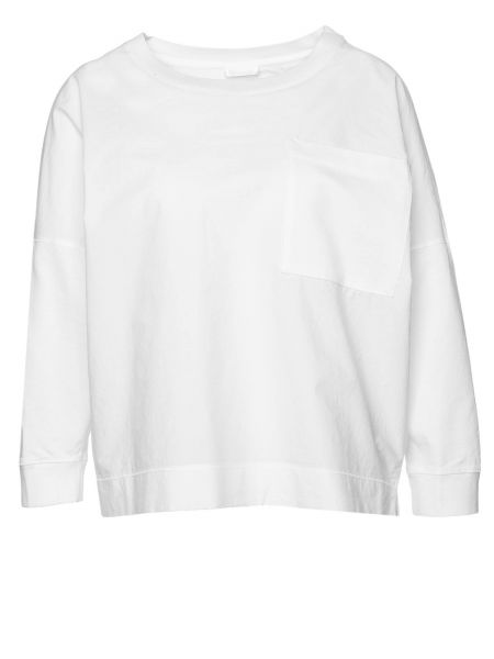 Langarmshirt Oriama in Weiß