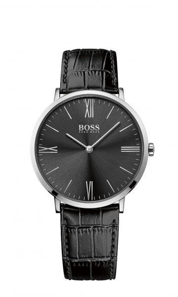 Uhr aus Edelstahl in Schwarz