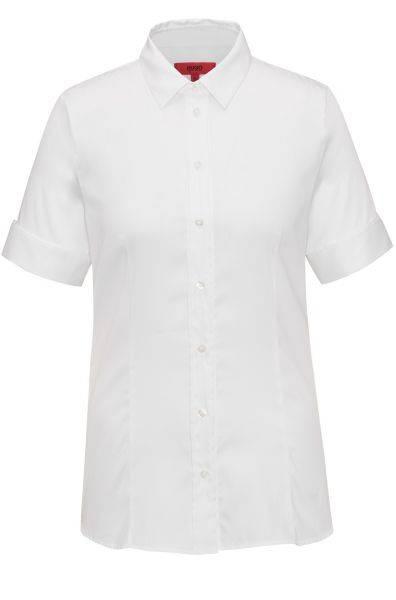 Kurzarm-Bluse Eshila in Weiß