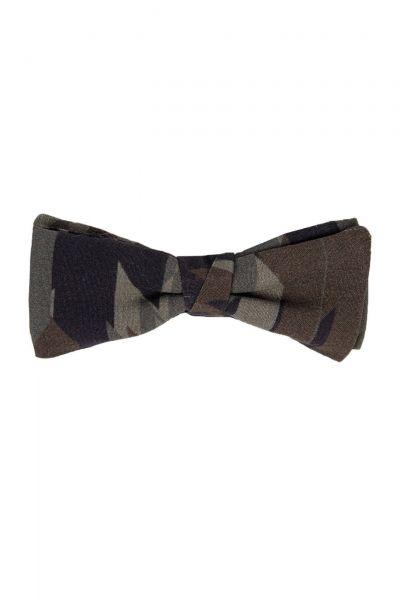 Fliege Bow tie fashion mit Camouflage-Print in Dunkelgrün